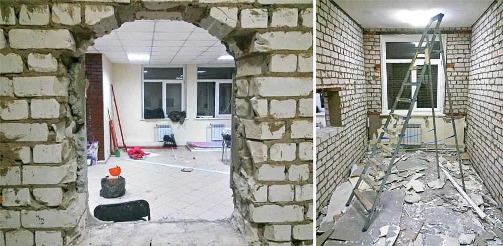 Сносы стен и перегородок